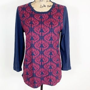 J. Crew 100% Cotton Embroidered Top Size Medium